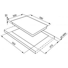 TABLE DE CUISSON SMEG ÉLECTRIQUE SE435S ACIER INOX - 60 CM