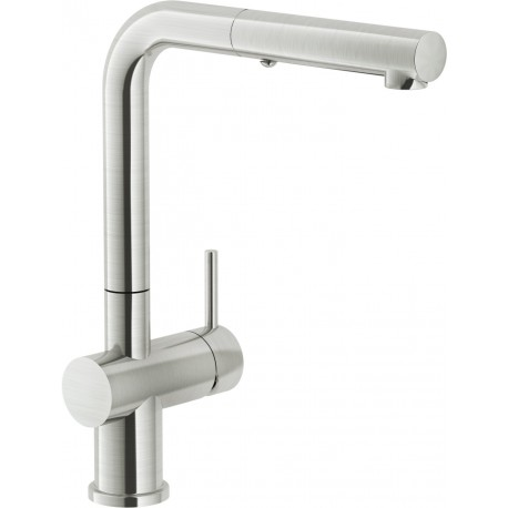 NOBILI LIVE IX SINGLE LEVER SINK MIXER TAP STAINLESS STEEL