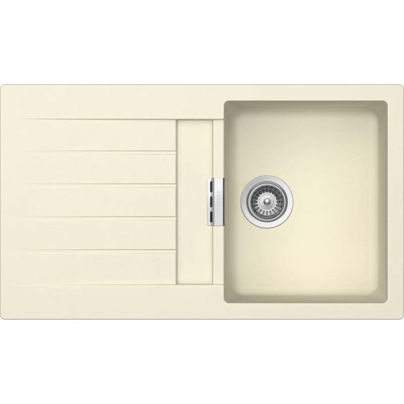 Cream Sinks For The Kitchen : SCHOCK KITCHEN SINK PRIMUS D100 AP - 1 BOWL CRISTALITE CREAM FAB A...
