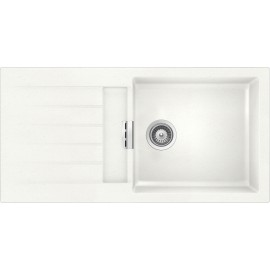 SCHOCK KITCHEN SINK PRIMUS D100L AP BOWL CRISTALITE WHITE ALPINA