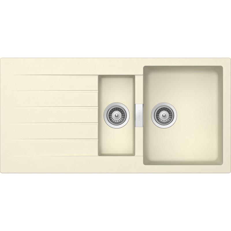 Cream Sinks For The Kitchen : SCHOCK KITCHEN SINK PRIMUS D150 AP - 1.5 BOWL CRISTALITE CREAM FAB...