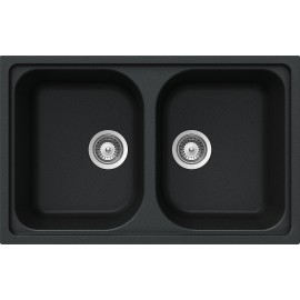 SCHOCK KITCHEN SINK LITHOS N200S A - 2 BOWLS CRISTALITE ANTHRACITE