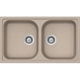 SCHOCK KITCHEN SINK LITHOS N200 A - 2 BOWLS CRISTALITE OATMEAL