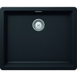 SCHOCK GALAXY N100L A KITCHEN SINK SINGLE BOWL CRSTADUR PURE BLACK