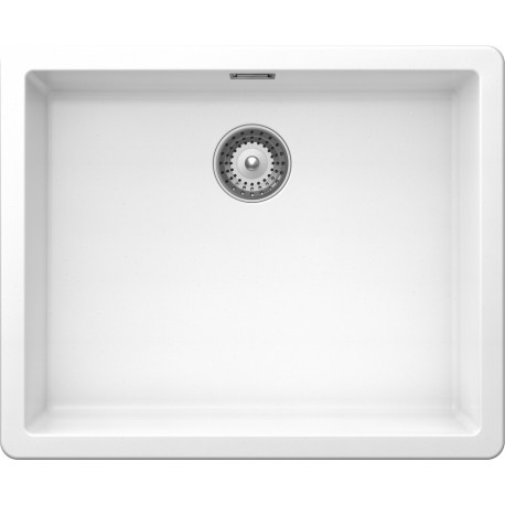 SCHOCK GALAXY N100L A KITCHEN SINK SINGLE BOWL CRSTADUR PURE WHITE