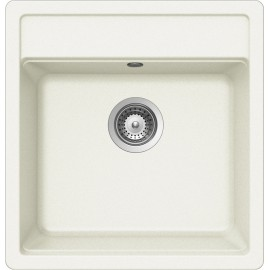 SCHOCK NEMO N100S KITCHEN SINK SINGLE BOWL CRSTADUR WHITE ALPINA