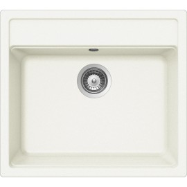 SCHOCK NEMO N100 KITCHEN SINK SINGLE BOWL CRSTADUR WHITE ALPINA