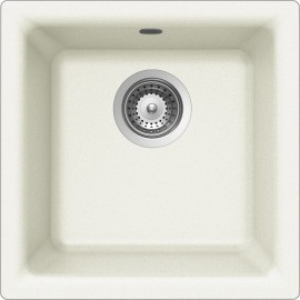 SCHOCK EURO N100 KITCHEN SINK SINGLE BOWL CRSTADUR WHITE ALPINA