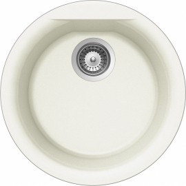 SCHOCK EURO R100 KITCHEN SINK SINGLE BOWL CRSTADUR WHITE ALPINA