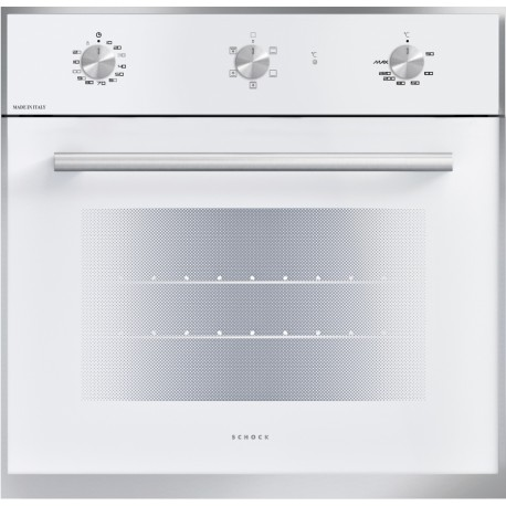 SCHOCK ELECTRIC VENTILATED OVEN SILVER F605 WHITE 60 CM