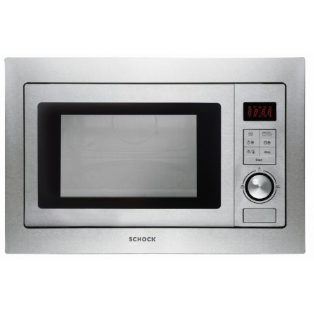 SCHOCK BUILT-IN MICROWAVE OVEN WITH ELECTRIC GRILL F605M STAINLESS STEEL 60 CM