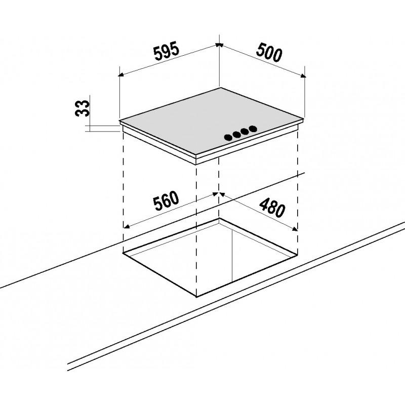 schock gaskochfeld primus pc60avg wei alpina 60 cm fab appliances. Black Bedroom Furniture Sets. Home Design Ideas