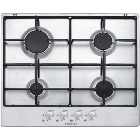 SCHOCK GAS HOB SILVER PC60AV STAINLESS STEEL 60 CM