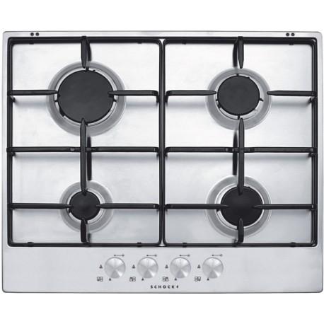 schock gaskochfeld silver pc60av edelstahl 60 cm fab appliances. Black Bedroom Furniture Sets. Home Design Ideas
