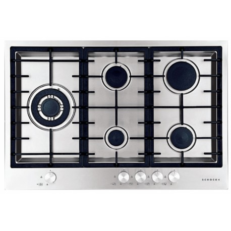 SCHOCK GAS HOB FILO PC75AVG FLUSH FITTED STAINLESS STEEL 75 CM