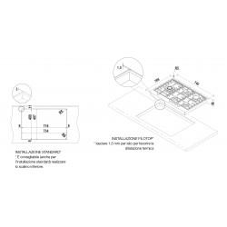 TABLE DE CUISSON SCHOCK FILO PC75AVG ACIER INOX MONTAGE À FLEUR 90 CM