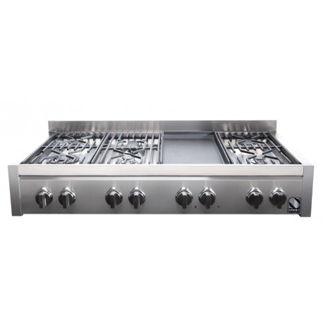 STEEL GENESI 120 COOKTOP G12-6T STAINLESS STEEL BASE 120 CM