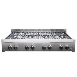 STEEL GENESI 120 COOKTOP G12-8 STAINLESS STEEL BASE 120 CM