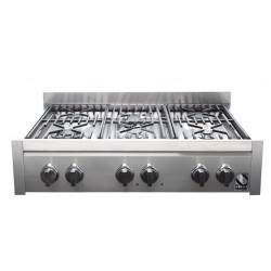 STEEL GENESI 90 COOKTOP G9-6 STAINLESS STEEL BASE 90 CM