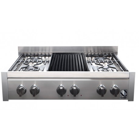 STEEL CUCINE GENESI 90 COOKTOP G9-4B STAINLESS STEEL BASE 90 CM