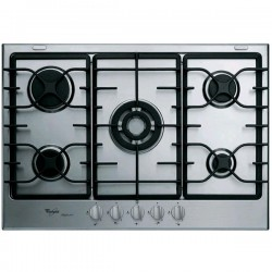 WHIRLPOOL GAS HOB iXELIUM GMR7542/IXL STAINLESS STEEL - 73 CM