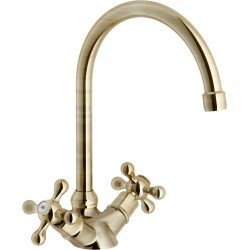 NOBILI GRAZIA TWO HANDLE SINK KITCHEN MIXER TAP BRONZE