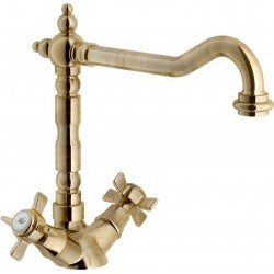 NOBILI RITZ TWO HANDLE SINK KITCHEN MIXER TAP BRONZE
