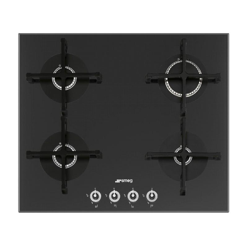smeg gaskochfeld pv164n 1 schwarz glas 60 cm fab appliances. Black Bedroom Furniture Sets. Home Design Ideas
