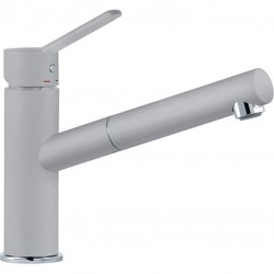FRANKE ARTIS DOCCIA SINGLE LEVER SINK MIXER TAP WITH PULL OUT SPRAY ALUMINIUM