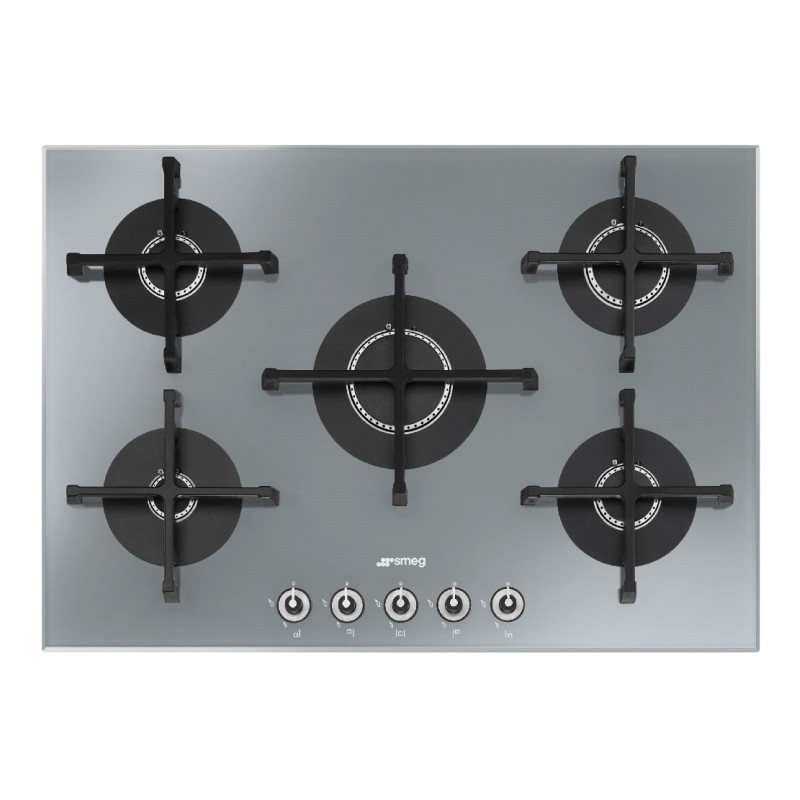 smeg gaskochfeld pv175s 1 stopsol supersilver glas 72 cm. Black Bedroom Furniture Sets. Home Design Ideas