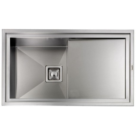 CM MAJESTIC 86X50 KITCHEN SINK 1 BOWL BRUSHED STAINLESS STEEL - MADE IN ITALY