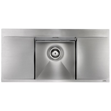 CM PRESTIGE 100X50 KITCHEN SINK 1 BOWL BRUSHED STAINLESS STEEL - MADE IN ITALY