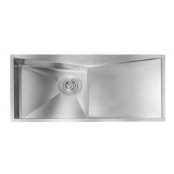 CM SPACE 116X50 KITCHEN SINK 1 BOWL BRUSHED STAINLESS STEEL - MADE IN ITALY
