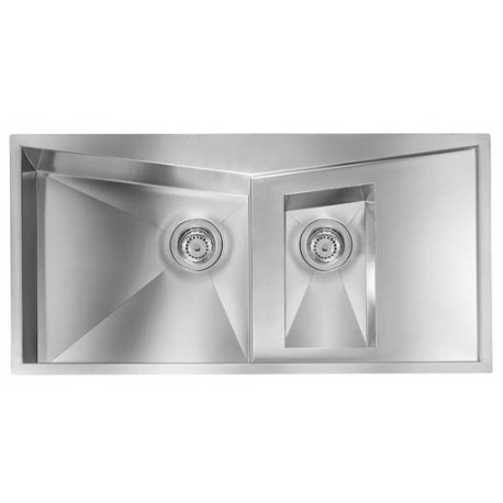 CM SPACE 100X50 KITCHEN SINK 1.5 BOWL BRUSHED STAINLESS STEEL - MADE IN ITALY
