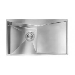 CM SPACE 100X50 KITCHEN SINK 1 BOWL BRUSHED STAINLESS STEEL - MADE IN ITALY