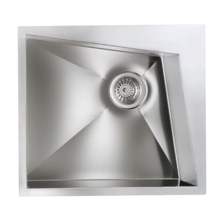 CM SPACE 55X50 KITCHEN SINK 1 BOWL BRUSHED STAINLESS STEEL - MADE IN ITALY