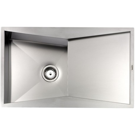CM SPACE REVERS 86X52 KITCHEN SINK 1 BOWL BRUSHED STAINLESS STEEL -...
