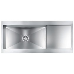 CM REVERS 116X52 KITCHEN SINK 1 BOWL BRUSHED STAINLESS STEEL - MADE IN ITALY