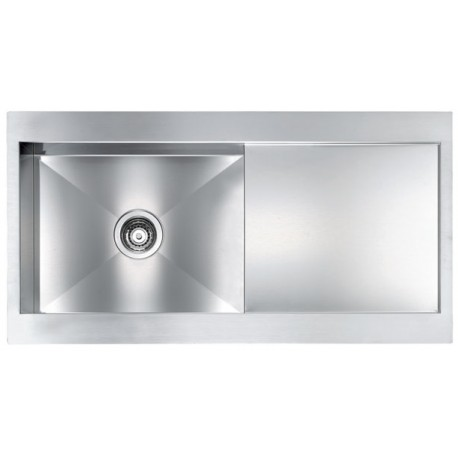 CM REVERS 100X52 KITCHEN SINK 1 BOWL BRUSHED STAINLESS STEEL - MADE IN ITALY
