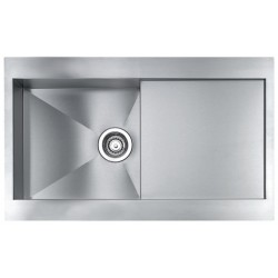 CM REVERS 86X52 KITCHEN SINK 1 BOWL BRUSHED STAINLESS STEEL - MADE IN ITALY