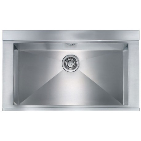 CM ANTHEA 86X51 KITCHEN SINK 1 BOWL BRUSHED STAINLESS STEEL - MADE IN ITALY