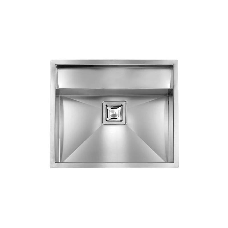 cm ariel 59x50 einbausp le doppelbecken edelstahl geb rstet fab ap. Black Bedroom Furniture Sets. Home Design Ideas