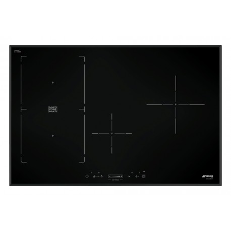table de cuisson induction smeg sim580b 80 cm bord biseaut fab. Black Bedroom Furniture Sets. Home Design Ideas