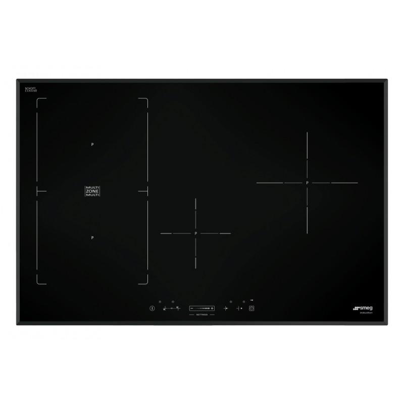 table de cuisson induction smeg sim580b 80 cm bord biseaut fab. Black Bedroom Furniture Sets. Home Design Ideas