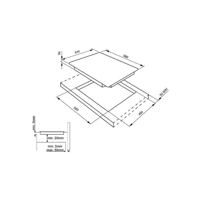 table de cuisson induction smeg sim561b