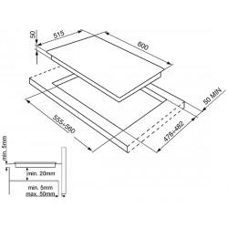 TABLE DE CUISSON INDUCTION SMEG SI5642D - 60 CM