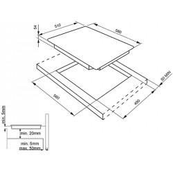 TABLE DE CUISSON INDUCTION SMEG SI5633B - 60 CM