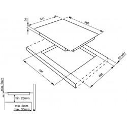 SMEG INDUCTION HOB SI5631D - 60 CM