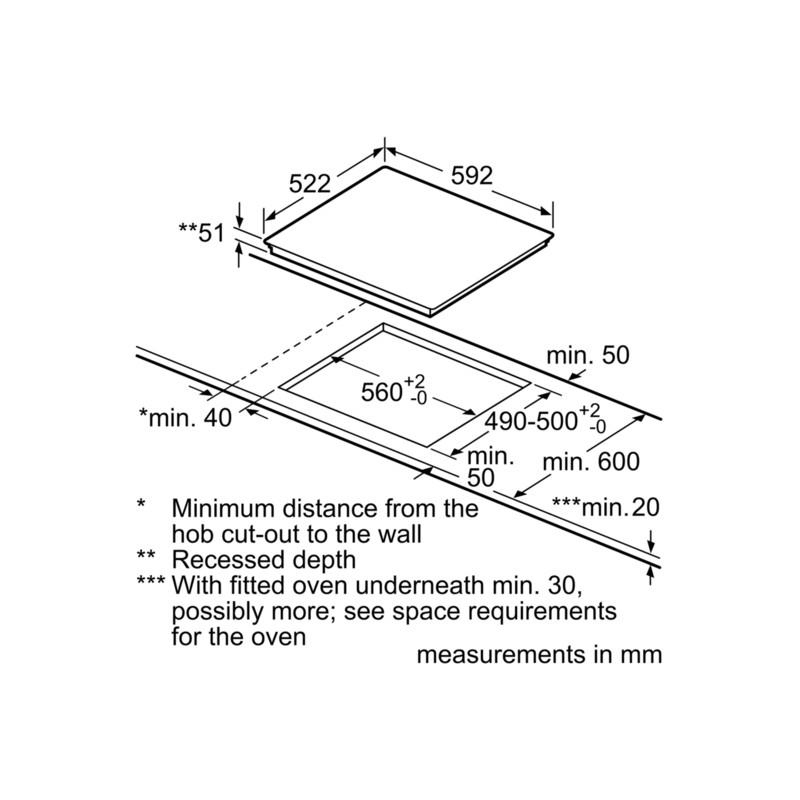 siemens induction hob ed651fsb1e touch control 60 cm. Black Bedroom Furniture Sets. Home Design Ideas