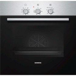 SIEMENS ELECTRIC CONVECTION THERMOVENTILATED OVEN HB311EOJ STAINLESS STEEL AND BLACK GLASS  60 CM EEC A